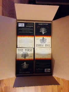 The first print run of The First by Lisa M. Green