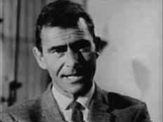 A still of Rod Serling taken from a Famous Writers School television ad (view here).