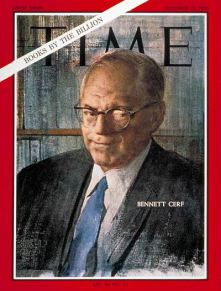 Bennett Cerf on the cover of Time Magazine, 16 Dec 1966